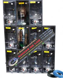 Centro de Medição 09 Medidores ELEKTRO Policarbonato Montado - kit Completo