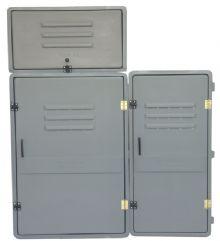 Caixa tipo L (4 Medidores) com Base Lateral ou Superior em Fibra de Vidro (vazia) EM ATÉ 10X SEM JUROS!!!