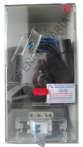 PADRÃO ELEKTRO para 1 Medidor Bifásico - Categoria B1 - POLICARBONATO Cod:4479