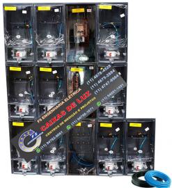 Centro de Medição 10 Medidores ELEKTRO Policarbonato Montado - kit Completo